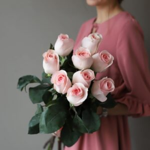 Монобукет из 9 роз (Эквадор) №1042 - Фото 37