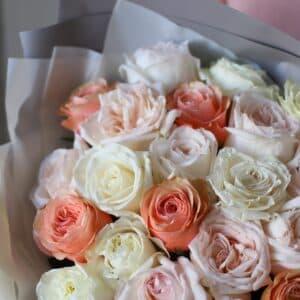 Монобукет из роз №896 - Фото 32
