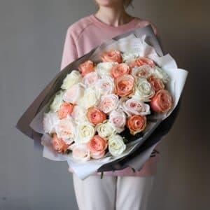 Монобукет из роз №896 - Фото 31