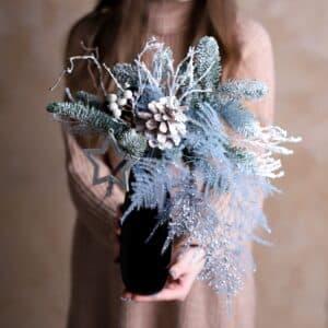 Ваза с сухоцветами №917 - Фото 39