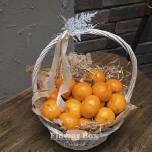 Корзина с мандаринами №222 - Фото 60