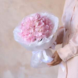 Розовая гортензия в упаковке №1161 - Фото 9
