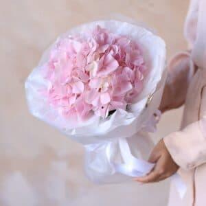 Розовая гортензия в упаковке №1161 - Фото 10