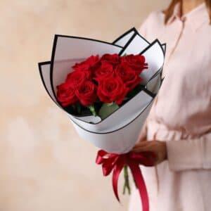 Монобукет из Российских роз (9 шт)  №1169 - Фото 19